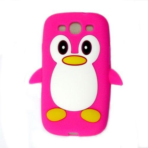 Capa Case Pinguim Pink para Samsung Galaxy S3