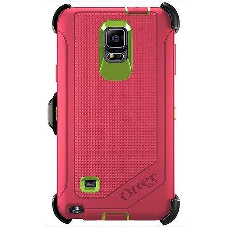 Capa Otterbox Defender para Samsung Galaxy Note 4 - Rosa e Verde