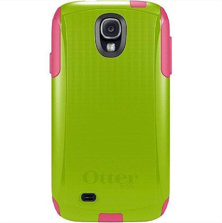 Capa Otterbox Commuter p/ Samsung S4 - Verde e Rosa