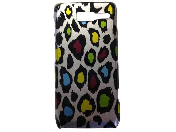 Capa Case Onça Colorido para Motorola RAZR D3