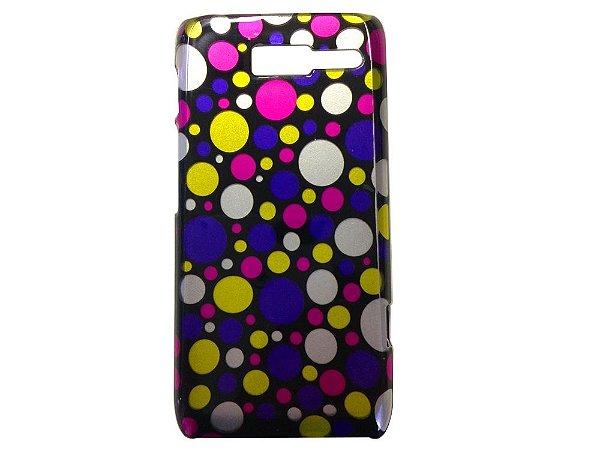 Capa Case Poá Colorido para Motorola RAZR D3