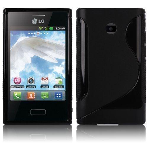 Capa Case S Type de TPU Premium para LG Optimus L3 ( E400)  - Preto