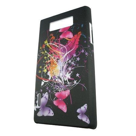 Capa Case para LG Optimus L7 - Borboletas Floral