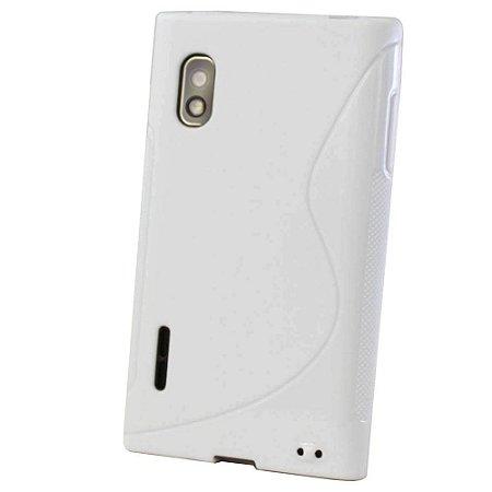 Capa Case S Type de TPU Premium para  LG Optimus L5 - Branco