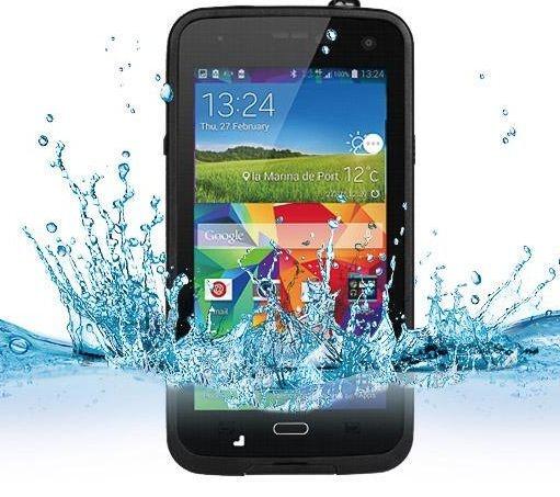 Capa Case a Prova De Água Para Samsung S5 - Preto