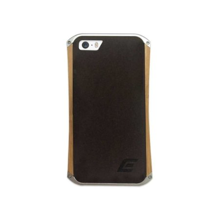 Bumper Element Ronin iPhone 5/5S Metal Prata e Madeira.
