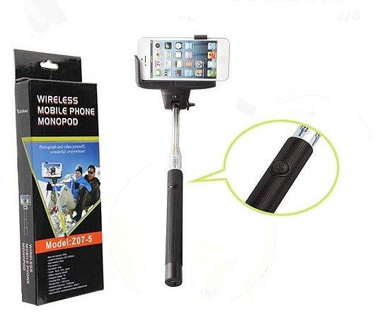 Monopod - Bastão Para Selfie 1,10m - Via Bluetooth - Preto