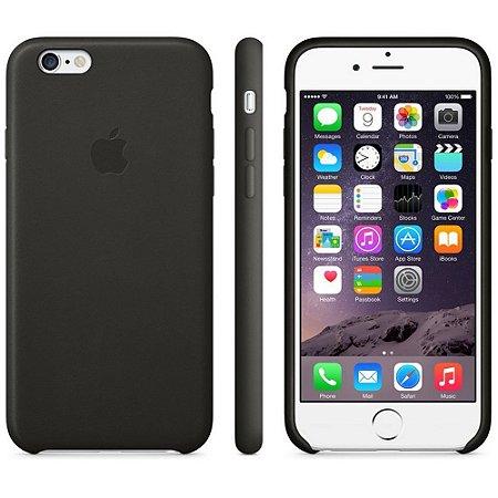 Capa Oficial Apple de couro para iPhone 6 Preto