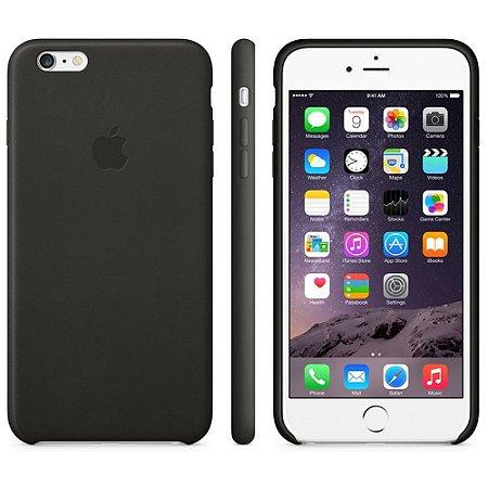 Capa Oficial Apple de couro para iPhone 6 Plus Preto