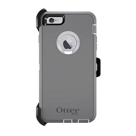 Capa Otterbox defender para iPhone 6 Plus - Cinza e Branco