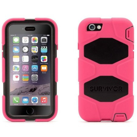 Capa Griffin Survivor para iPhone 6 - Rosa e Preto