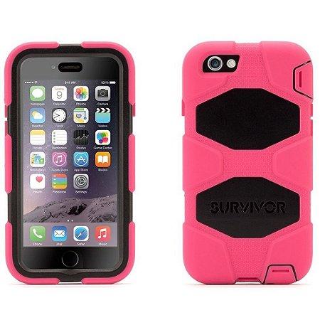 Capa Griffin Survivor para iPhone 6 - Rosa e Preto