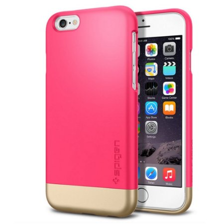 Capa SGP Spigen Style Armor para iPhone 6 - Rosa e Dourado