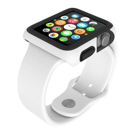 Capa Speck CandyShell FIT para Apple Watch 42 mm - Branco / Preto