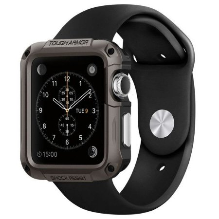 Capa SGP Spigen Tough Armor Apple Watch 42 mm Gunmetal