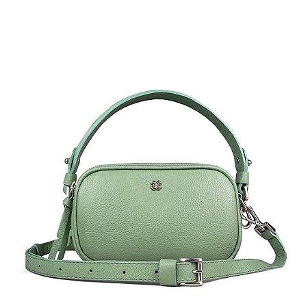 Pochete bolsa Milla em couro erva doce