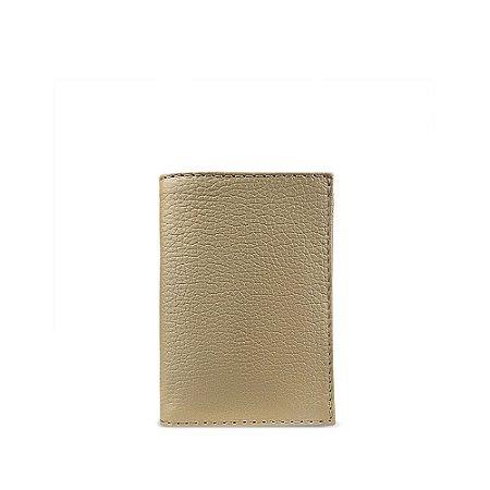 Carteira flip em couro khaki personalizável