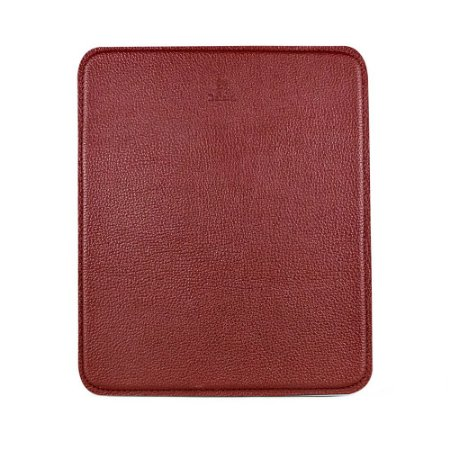 Mouse pad personalizável em couro bordo