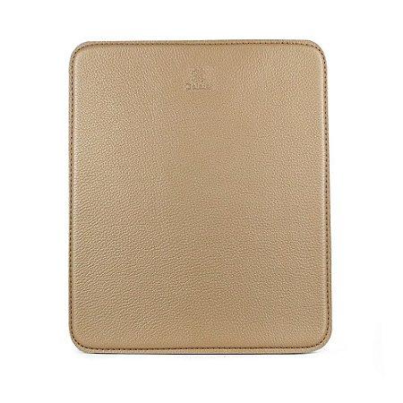 Mouse pad personalizável em couro khaki