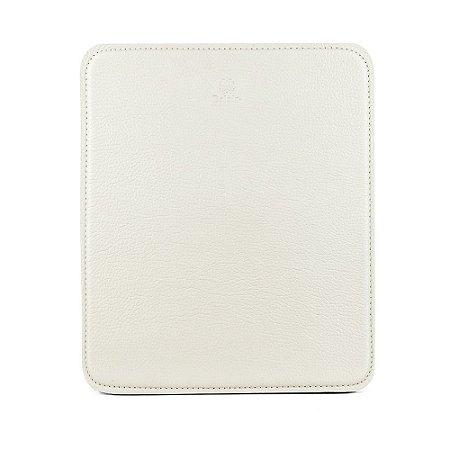 Mouse pad personalizável em couro talco