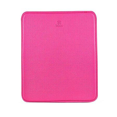 Mouse pad personalizável em couro fucsia