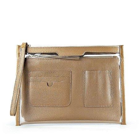 Organizador de bolsa personalizavel em couro avela