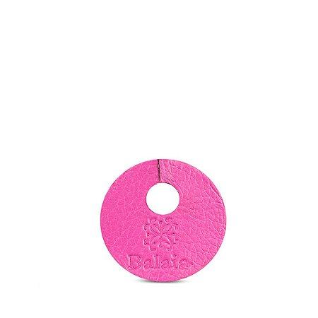 Marcador de taça personalizável em couro fucsia