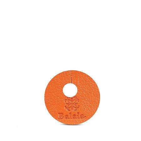 Marcador de taça personalizável em couro ocre