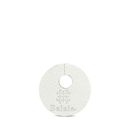 Marcador de taça personalizável em couro talco