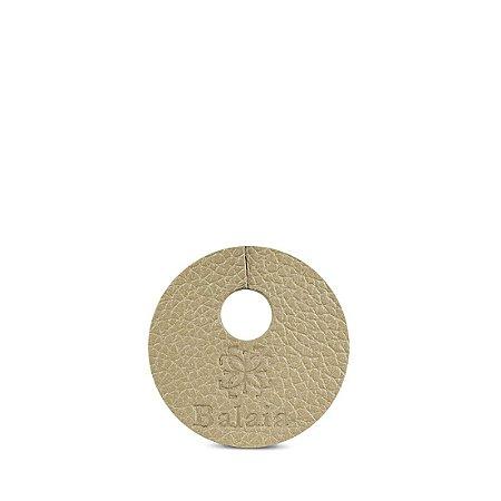 Marcador de taça personalizável em couro khaki