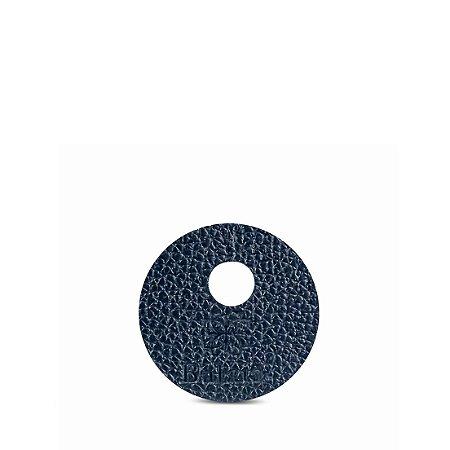 Marcador de taça personalizável em couro marinho