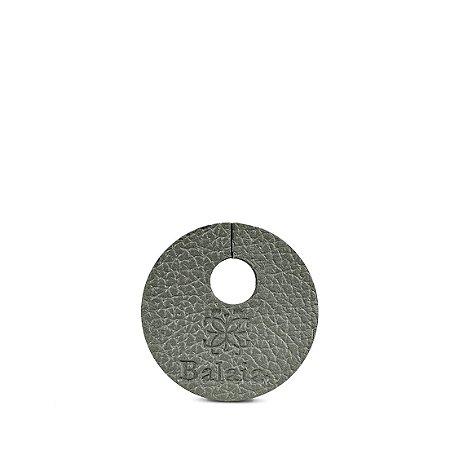 Marcador de taça personalizável em couro chumbo