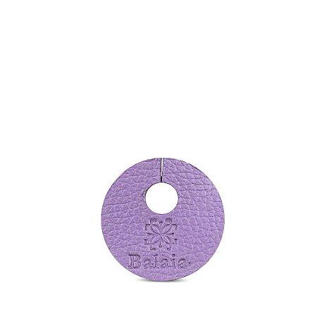 Marcador de taça personalizável em couro lilas