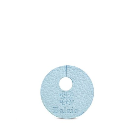 Marcador de taça personalizável em couro cielo