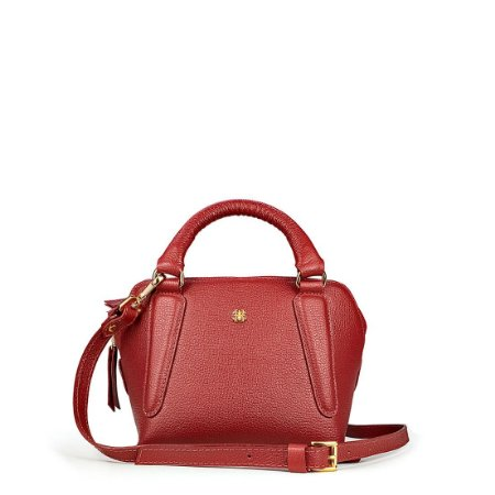 Bolsa Balaia Zoe P em couro vermelho