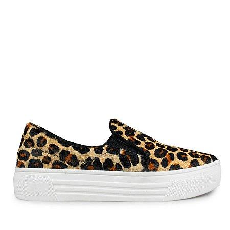 Sneaker Balaia MOD144 em couro Animal Print