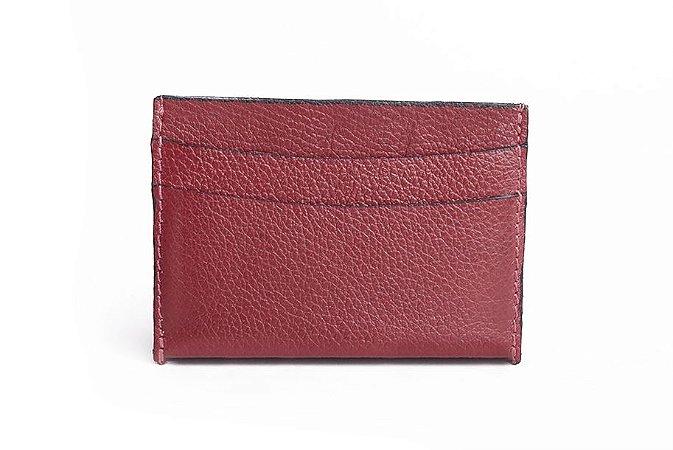 Mini carteira em couro Balaia vermelha