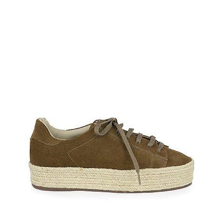 Sneaker Camurça MOD241 Conhaque