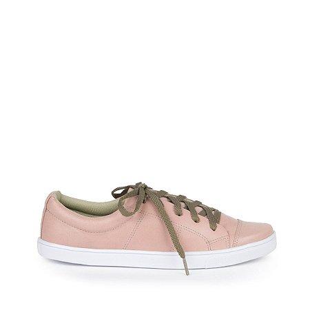 Sneaker em Couro MOD203 Rosa
