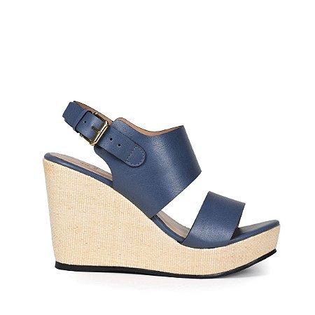 Anabela Balaia em couro Jeans MOD191
