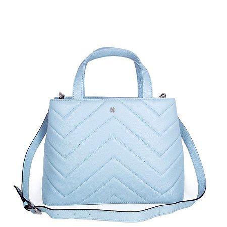 Bolsa Balaia Iara em couro Pale Blue