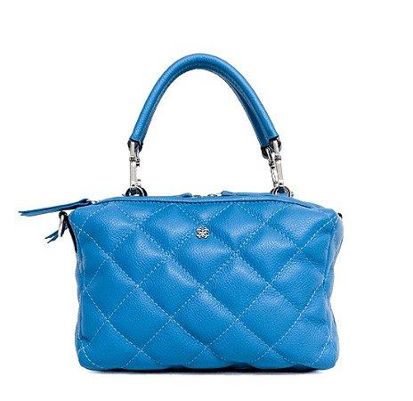 Bolsa Balaia Siena M em couro Azul Cobalto