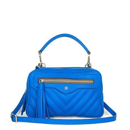 Bolsa Balaia Verona em couro Azul Cobalto