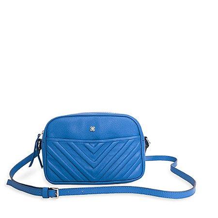 Bolsa Balaia Maya P em couro Azul Cobalto