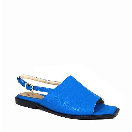 Rasteira Balaia MOD312 em couro Azul Cobalto