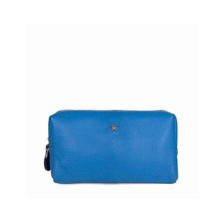 Necessaire P Balaia em couro Azul Cobalto