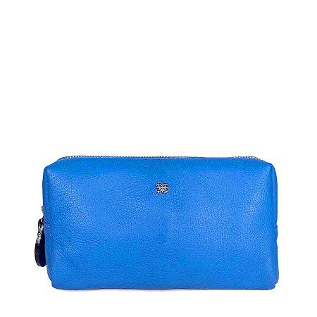 Necessaire M Balaia em couro Azul Cobalto