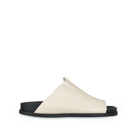 Slider Balaia MOD311 em couro Off White
