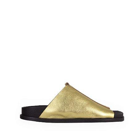Slider Balaia MOD311 em couro Metalizado Ouro