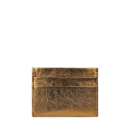 Mini Carteira Balaia em Couro Bronze